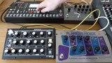 Moog Minitaur, EHX Flanger Hoax &amp Strymon Timeline