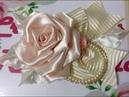 Nueva Flor de tela de satin VIDEO No 588 creaciones rosa isela