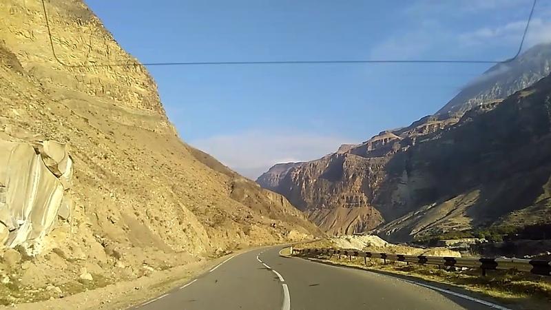 1 Дорога в Ашильту, к мемориальному комплексу Ахульго, октябрь 2018 | осенний Дагестан