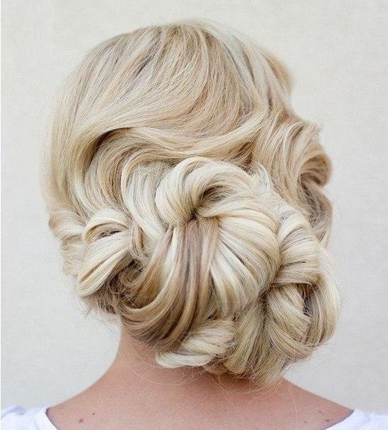 Красивые завитки - женская причёска