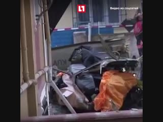 Военный вертолет разбился в Стамбуле