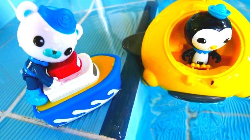 Octonauts oyuncakları. Havuz maceralı. Çocuk oyunları izle!