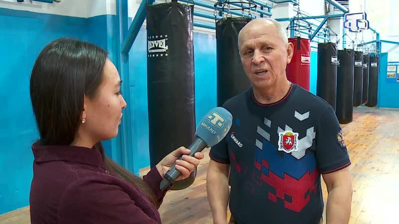 Олимпийский чемпион по боксу Рахим Чахкиев в Алуште встретился с воспитанниками спортивного клуба Барс