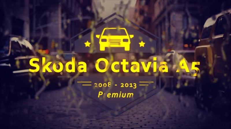 Авточехлы для Шкода Октавия А5, (2008 - 2013) с серым центром