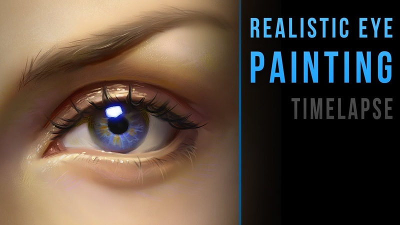 Realistic eye painting - Timelapse