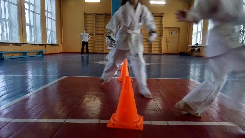 СФП 49 Упражнение Змейка. Укрепляет поверхности ног, Развиваемая координацию, Повышаем маневренность в бою в Кёкусинкай карате