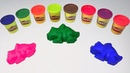 Learn Colors and Numbers with Play Doh and Animal Character Molds