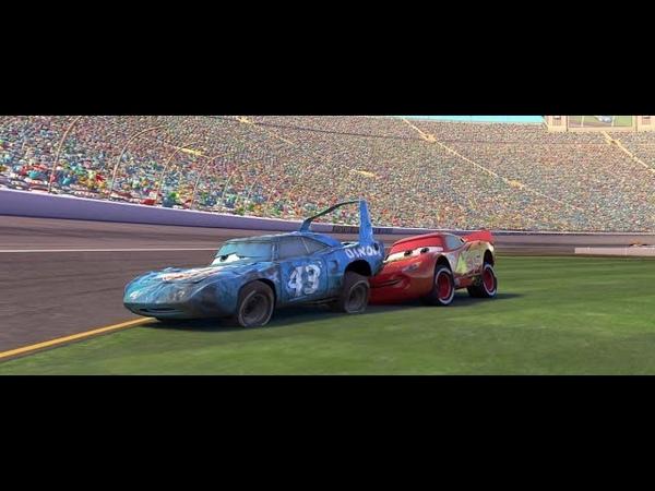 Молния Маквин помог Кингу доехать до финиша. Тачки (2006)