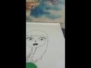 рисую момо