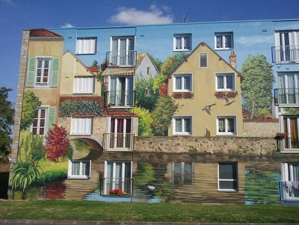 Рисунок на жилом доме