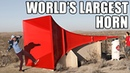 World's Largest Horn Shatters Glass