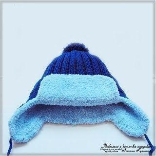 Зимняя вязаная шапочка на мальчика 1,5 — 2-х лет