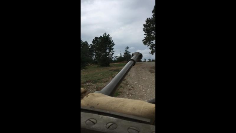 Друг покатал нас на своем танке! 😂