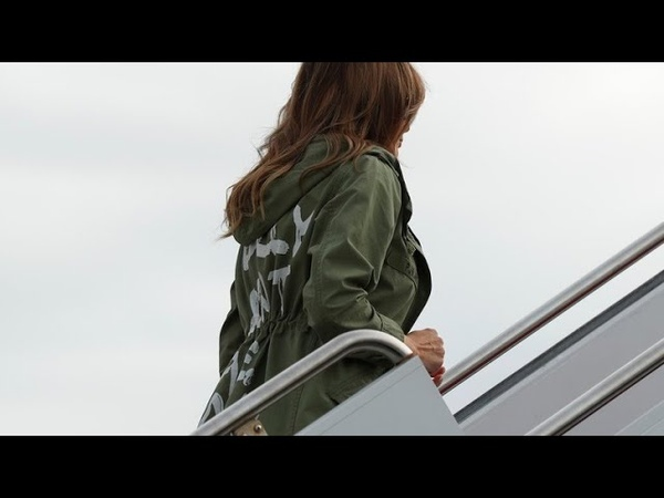 Melania Trump dons jacket that reads I really don't care. Do u?
