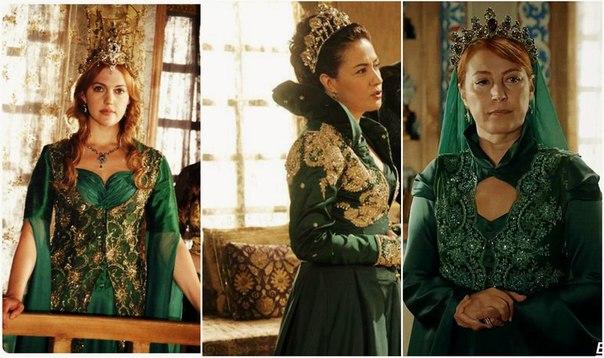 Хюррем султан в зеленом платье фото