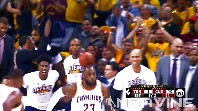 Kyrie and LeBron Alley-Oop!!