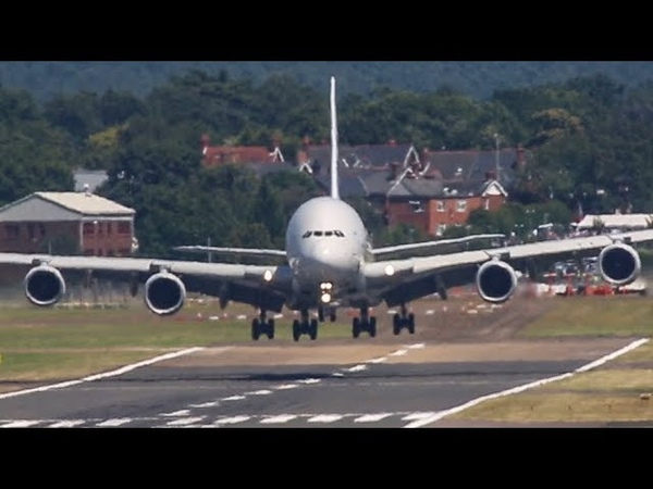 FARNBOROUGH AIR SHOW 2018 warm up - AIRBUS A400, A380 and Red Arrows AIRSHOW