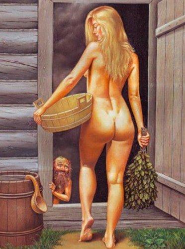 Девушка со стариком в бане фото 147-770