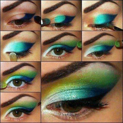 Яркий макияж пошаговые