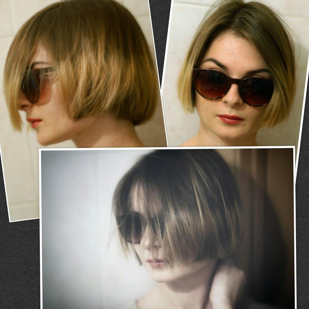 Прически каре с очками фото