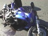 ДТП в Киеве: Девушка на авто подрезала девушку на мотоцикле.