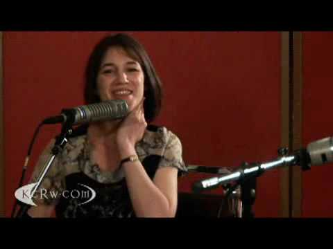 Charlotte Gainsbourg Beck at KCRW studios interview about IRM part 1 2