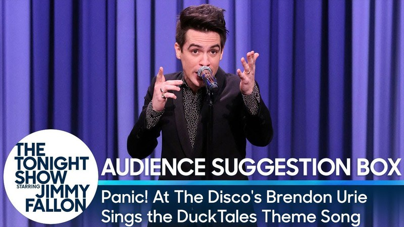Panic! At The Disco's Brendon Urie Sings the DuckTales Theme Song