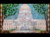 US Capital building. My beadwork with swarovski crystals. Картина из бисера