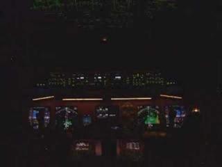 St. Elmo's Fire B777 Cockpit