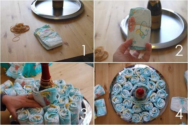 Торты из памперсов своими руками мастер класс фото
