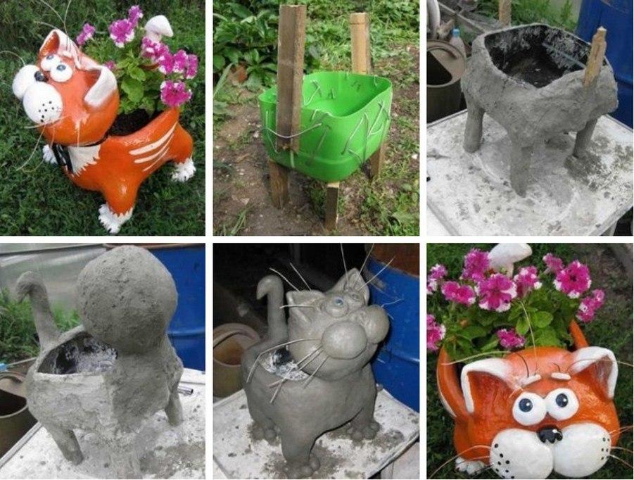 Фигурки для сада из гипса и цемента своими руками