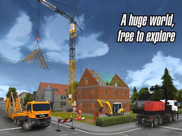 CONSTRUCTION SIMULATOR 2014 - игра-симулятор строительства. Бесплатные анд