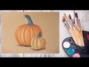 Как нарисовать тыкву пастелью! Dari_Art