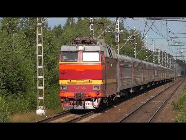 ЧС2Т-1003 со скорым поездом Санкт-Петербург - Воркута