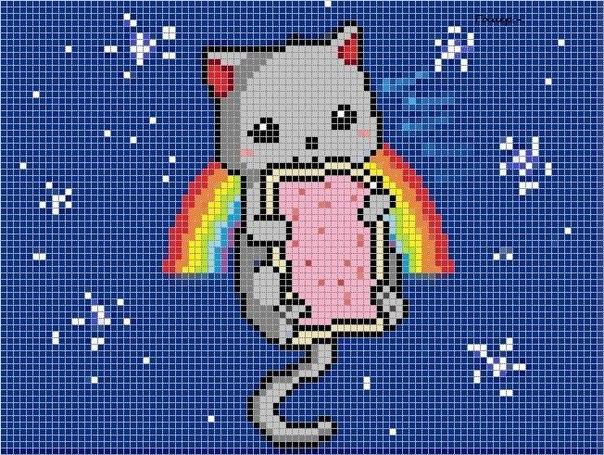 няшная схемка Nyan Cat ^^