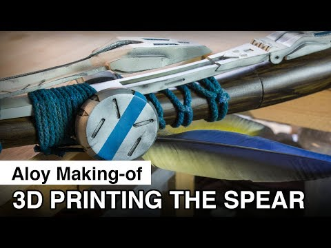 Aloy Cosplay Making-of - 3D printing the Spear