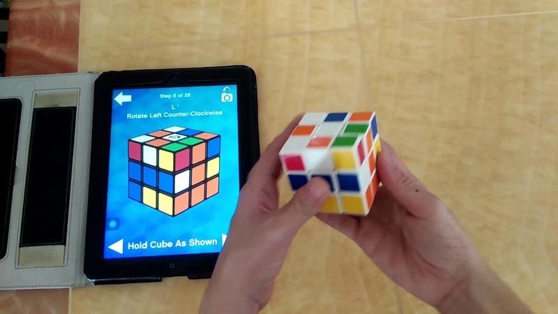How to solve Rubik's cube using iPad