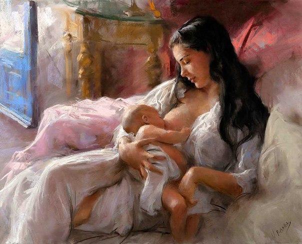 """И спросил Бог у женщины: """"Что ты хочешь в жизни?"""" - """"Счастья!"""" - ответила женщина. И послал ей Бог ребенка..."""