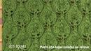 Punto Hojas en relieve caladas tejido en dos agujas - Tejiendo Perú