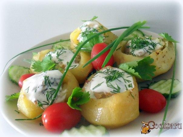 Фаршированный картофель Простое, вкусное блюдо, одно из любимых в моей семье.