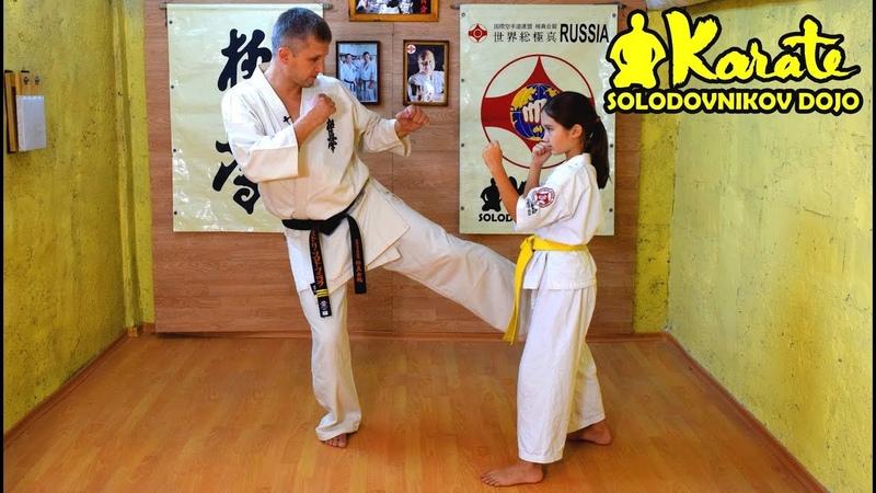 Защита от лоу кик и набивка   Контратаки руками и ногами киокушин каратэ  Counterattack Kyokushinkai » Freewka.com - Смотреть онлайн в хорощем качестве