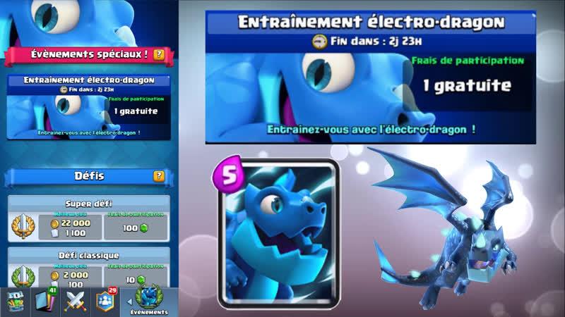 Clash Royale Entraînement électro-dragon | Electro-Dragon Clash Royale NOUVELLE Carte à découvrir