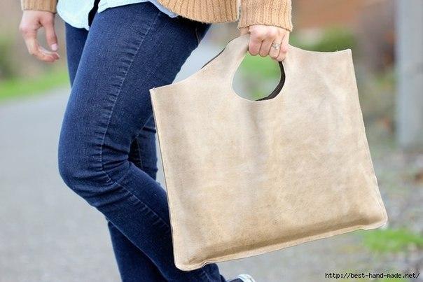 Кожаная сумка для ноутбука своими руками… (6 фото)