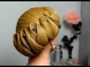 Wedding prom updo, hairstyles for long hair. Вечерняя прическа на длинные волосы.
