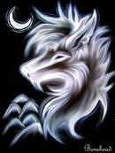 """Схема вышивки  """"Волк """": оригинал."""