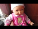 Мой видеообзор Говорящий пупс с мимикой Takmay Baby Doll Часть 2 в одежде