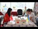 Hanqing Zhao (CHN) - Viktoriya Motrichko (UKR). Women's World Draughts Championship. 2019.