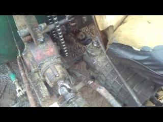 Механизм подъема кузова, мой мотоблок самосвал рассказываю показываю