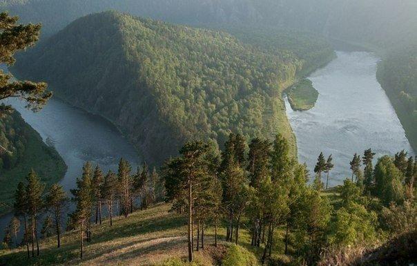 Река Мана, Красноярский край, Россия