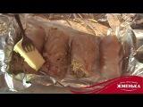 Пикантный куриный рулет с грибами и сыром